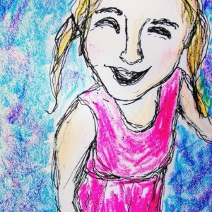 """""""Joy:"""" A quick sketch of my youngest daughter Bryn. She is pure joy every day to all those around her."""