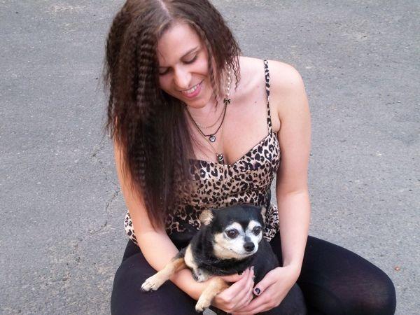 Sarah with dog