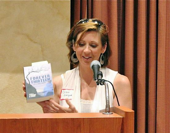 """Crissi talks about her book, """"Forever Thirteen."""""""