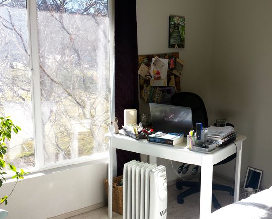 April's work area—with lots of natural light! :O)