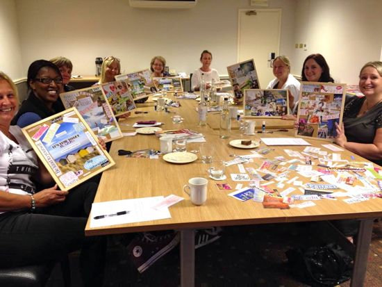 "One of the vision board workshops Shelly ran in 2015. ""They are great fun!"""