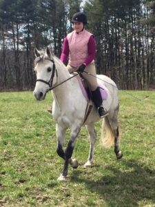 Sydney and her horse, Snowdy, in Mt. Crawford, Virginia in spring 2015.