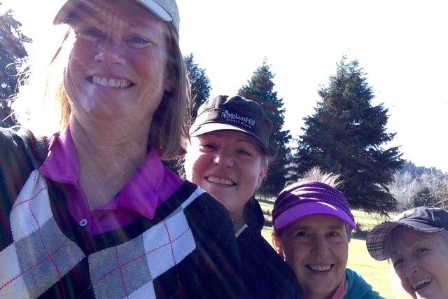 With Golfers