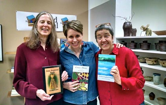 Celebrating Poetry Month with friends, colleagues, and amazing poets Athena Kildegaard and Vicki Graham.