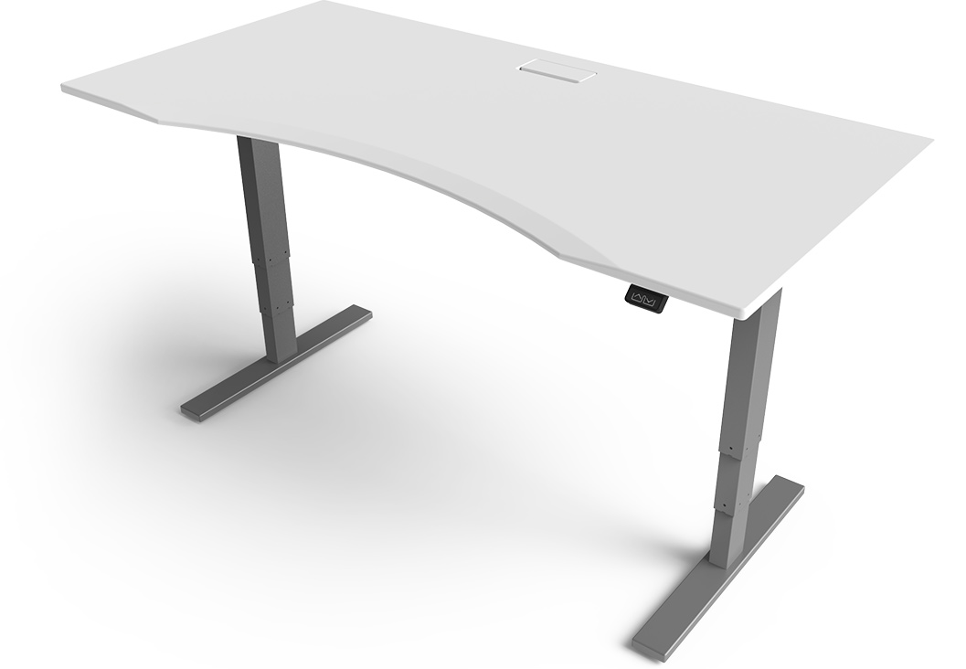 Desks That Raise And Lower Whitevan