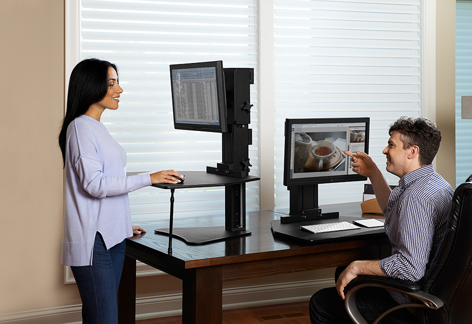 sit or stand convertible desk