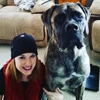 Lindsay with her American Mastiff Henry.