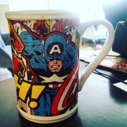 My favourite marvel coffee mug which I bought in Dublin, Ireland from the Disney store.