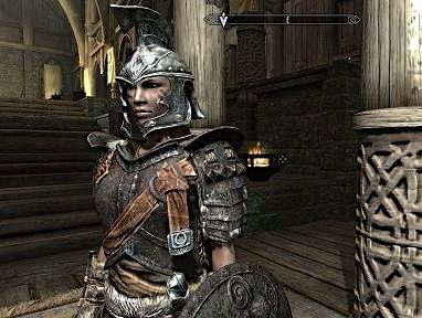 My alter ego Ash. who lives in Skyrim (Skyrim being a computer game...with dragons.)
