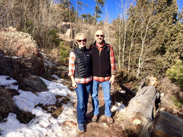 My favorite hiking buddy, my hubby, Chuck Barrett.