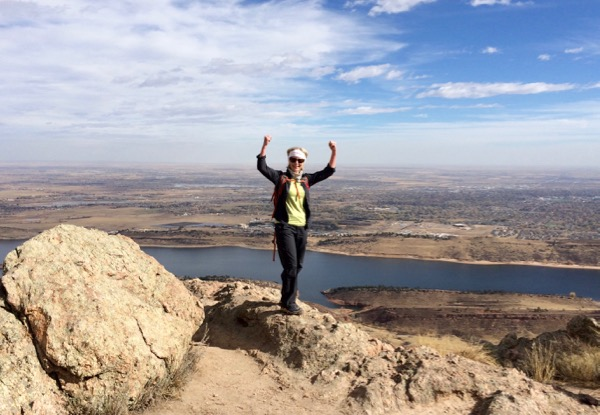 Hiking to top of Arthur's Rock, Fort Collins, Colorado.