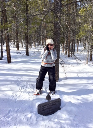 Snow shoeing in Rocky Mountain National Park.