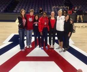 My basketball team. I'm the one on the far left and the other women are my teammates (University of Arizona-Tucson).