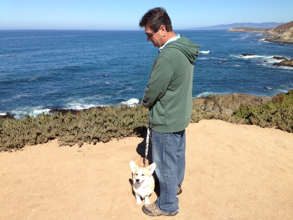 James with Corgis 2