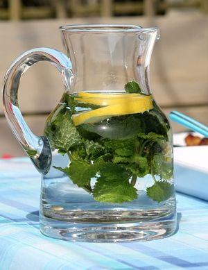 water pitcher lemon