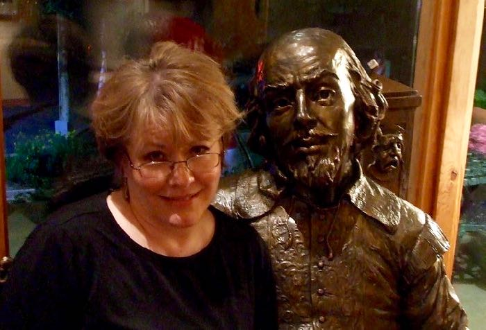 ME AND WILL: Just chatting about writing with my BFF. (Statue located at the Tony award winning Utah Shakespeare Festival, Cedar City, UT. Highly recommended.)