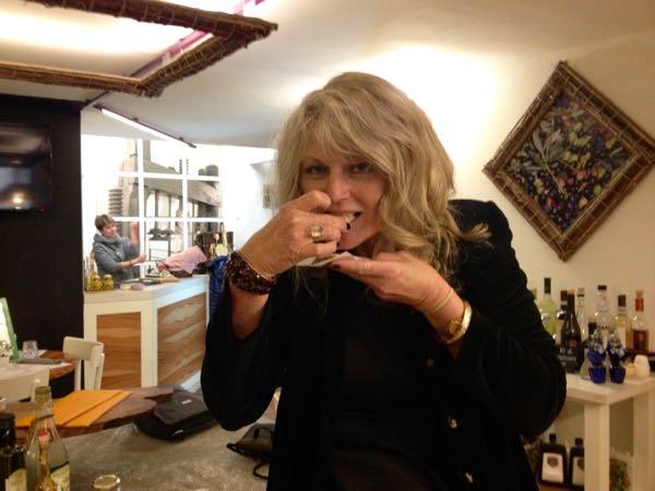 Olive oil tasting in Orvieto, Italy.