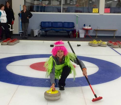 This curling photo represents two things I love - curling, and dressing up silly. :)