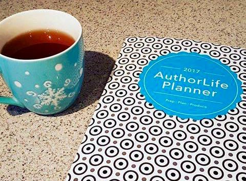 Two Necessities: My Favourite Mug Filled with Tea and my Authorlife Planner
