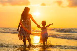 Sunset Mom Child