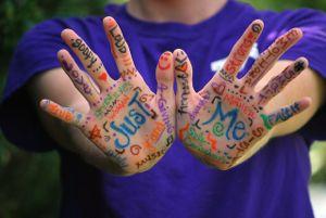Hands words language