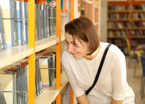 library-woman